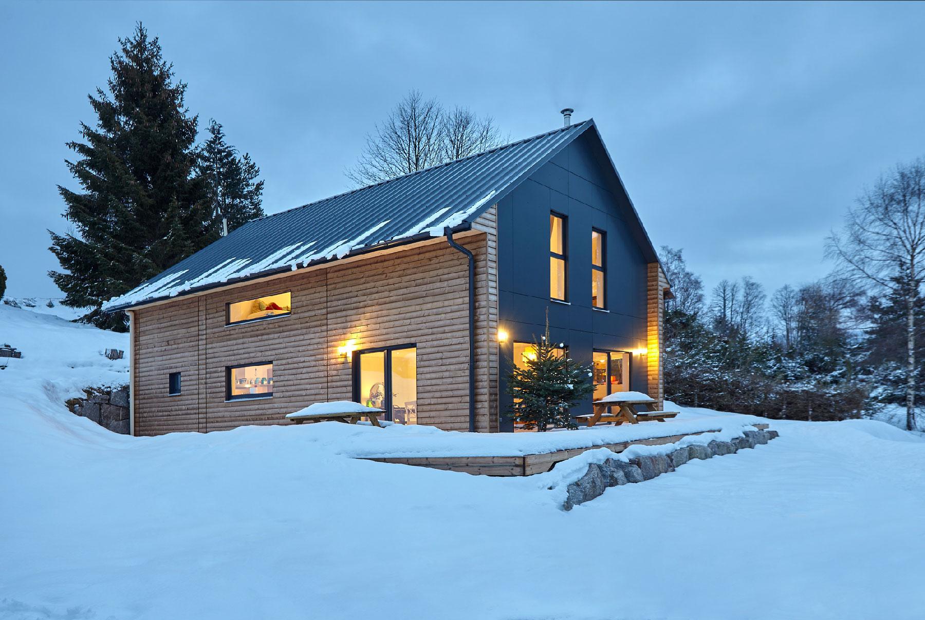 maison bois toit 2 pans